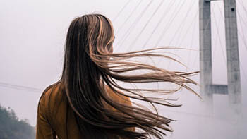person with long hair
