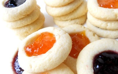 Almond & Butter Fruit Thumbprint Cookies