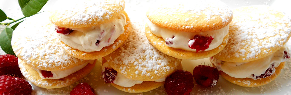 Lemon Kisses & Raspberry Cream Sandwiches