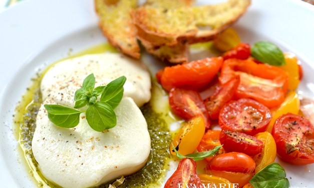 Warm Roasted Tomato Caprese
