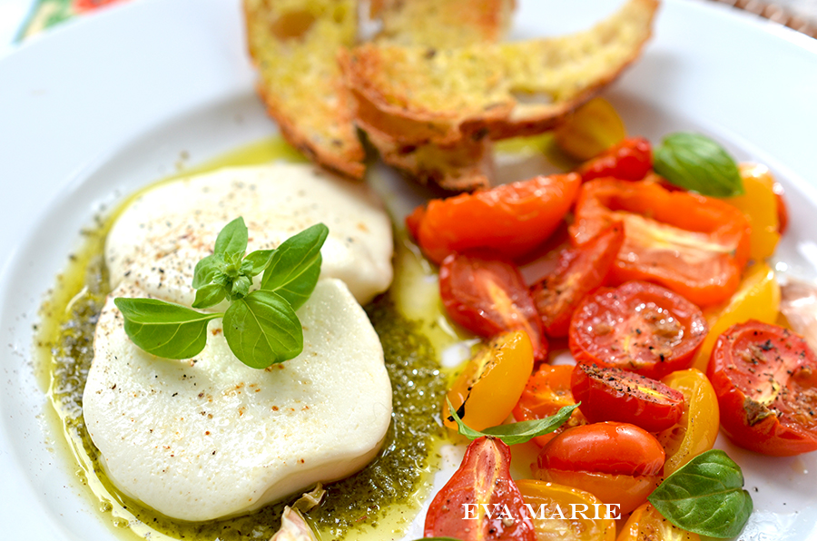 Warm Roasted Tomato Caprese