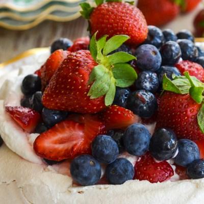 Pavlova With Fresh Berries