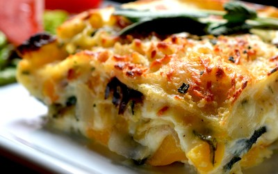 Roasted Butternut Squash, Red Onion & Sage Lasagna