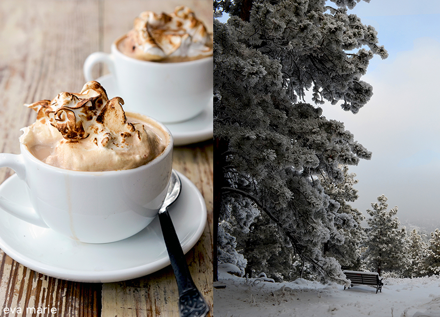 Swiss-lattes hot cocoas