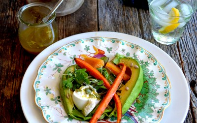 Roasted Carrot, Avocado & Orange Salad for Two
