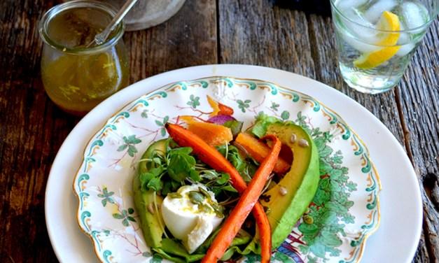 Roasted Carrot, Avocado & Orange Salad for Two {vegetarian} {gluten-free} {vegan}