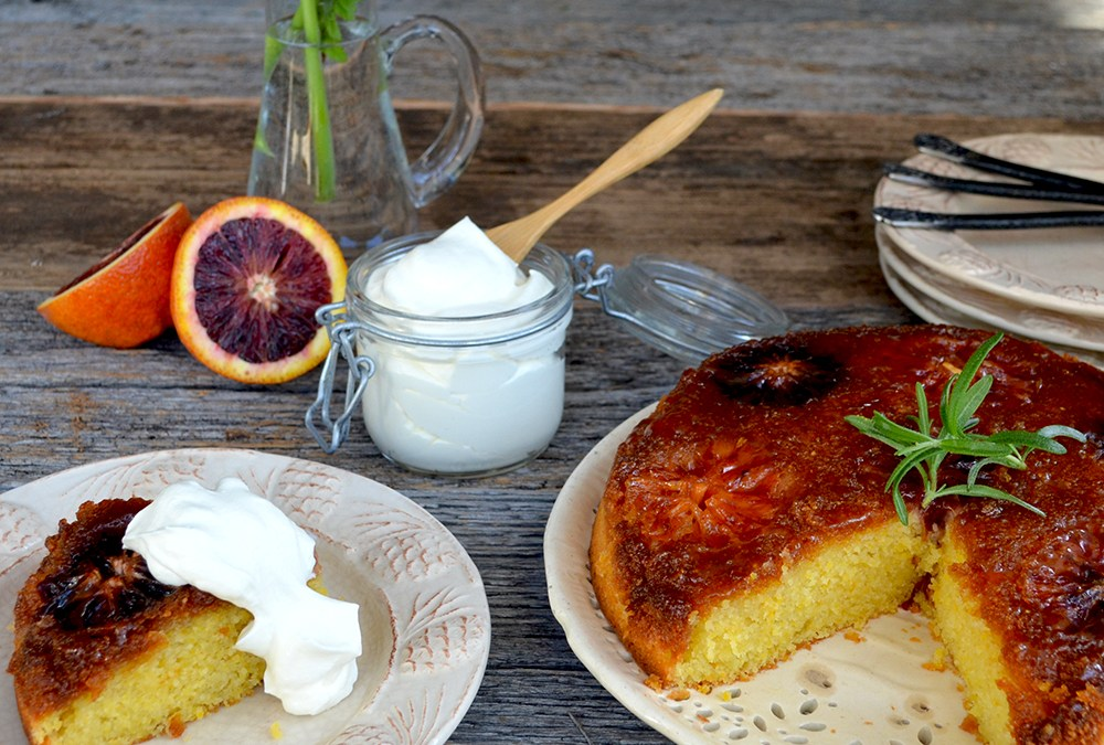 Blood Orange and Polenta Cake