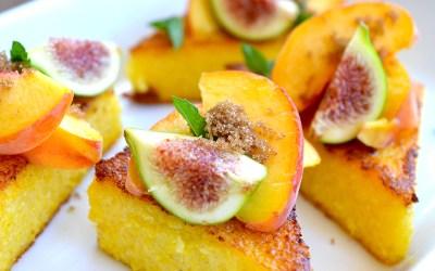 Polenta with Peaches