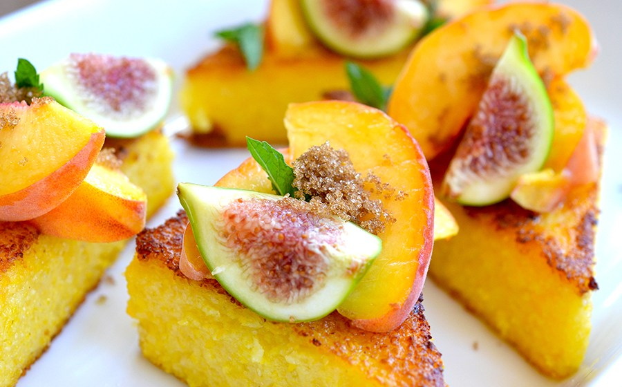 Polenta and Peach Obsession