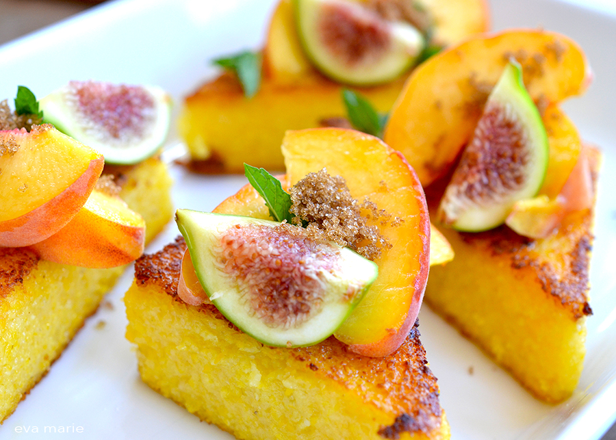 Polenta with Peaches