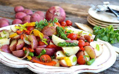 Potato and Asparagus Garden Salad