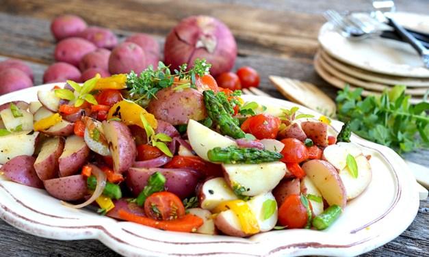 Potato and Asparagus Garden Salad