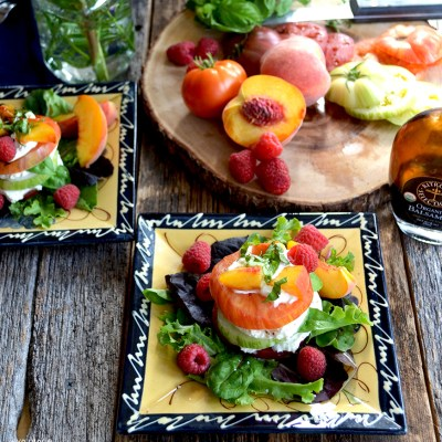 Heirloom Tomato, Peach and Burrata Salad