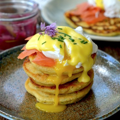 Savory Chickpea Pancakes {gluten-free}
