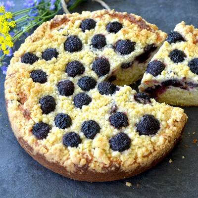 Lemon-Cherry Ricotta Cake