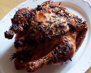 Orange Ginger and Garlic Roast Chicken