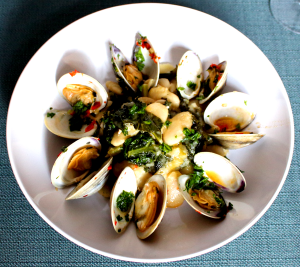 Butter Bean Kale and Clam Ragù