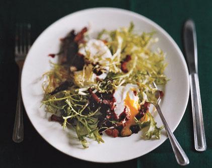 frisee, salad, seeds