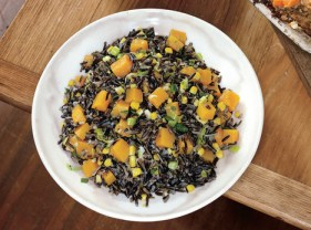 Wild Rice with Butternut Squash, Leeks, and Corn