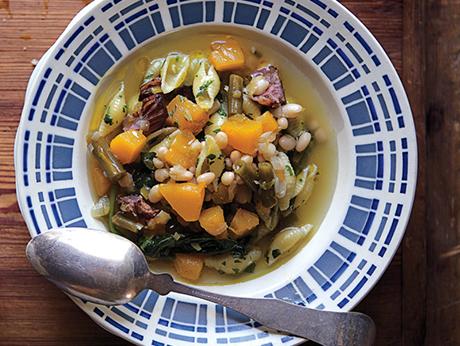 Squash and Bean Minestrone recipe