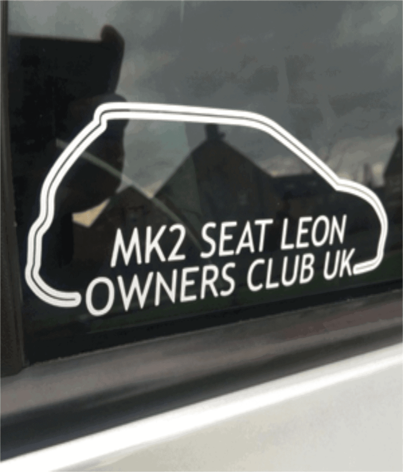 MK2 Seat Leon Owners Club Stickers Side View