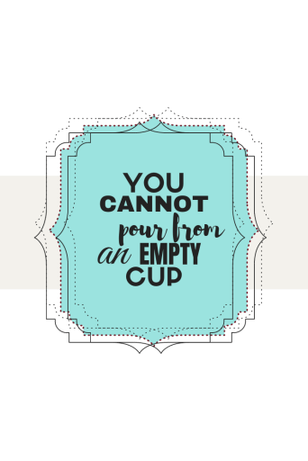 You cannot pour from an empty cup.