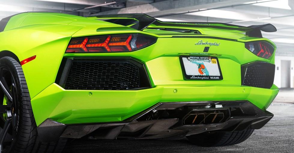 Vorsteiner Aventador-V Aero Rear Diffuser Carbon Fiber PP 2x2 Glossy