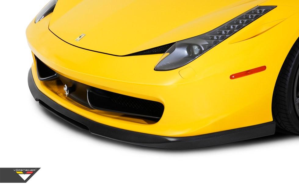 Vorsteiner Ferrari 458-V Aero Front Center Splitter Replacement PP 1x1 Glossy
