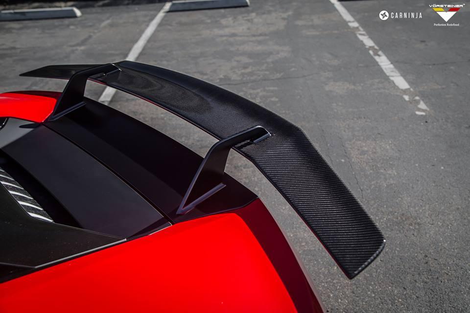 Vorsteiner Huracan Verona Edizione Aero Wing Blade w/ Aluminum Uprights, Carbon Fiber PP 2x2 Glossy