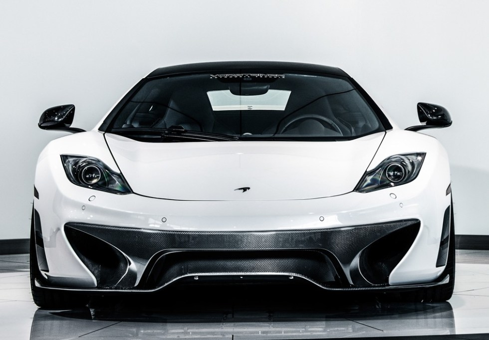 Vorsteiner Mclaren MP4-12C V-MC Aero Front Splitter Replacement For V-MC Front Bumper Cover Carbon Fiber PP 2x2 Glossy