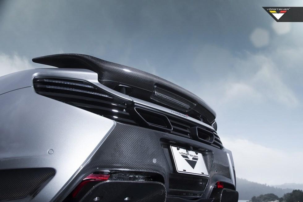 Vorsteiner Mclaren MP4-12C V-MC Aero Rear Bumper Cover Carbon Fiber, Carbon Fiber Rear Diffuser PP 2x2 Glossy