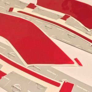Nismo OEM Nissan Red Vinyl Stripe Kit (Complete): 2015-2016 Nissan R35 GTR