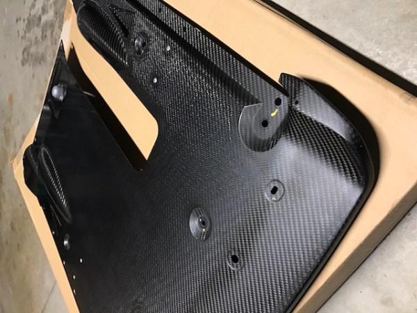 Nissan 748A0-KB51A dba rear carbon fiber underpanel