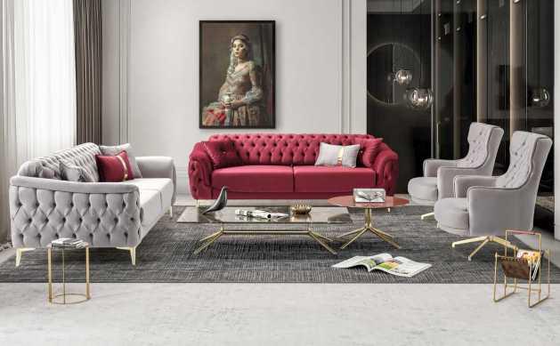 Κλασικός Καναπές Κρεβάτι Τριθέσιος Venedik (1τμχ.) 13152