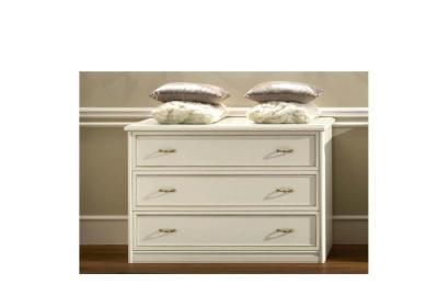 Συρταριέρα Σε Λευκό Αντικέ Χρώμα CG-370181
