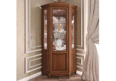Βιτρίνα Γωνιακή Ιταλίας σε Καρυδί Χρώμα CG-126630