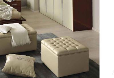 Ιβουάρ Σκαμπό με Καπιτονέ Κάθισμα CG-315109