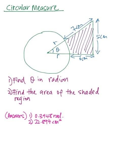 SPM Add Math – Circular Measure Paper 2 question | SPM IGCSE