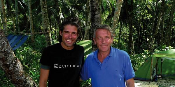 Gauthier Toulemonde en compagnie d'Alvaro Cerezo de Docastaway. L'organisateur .