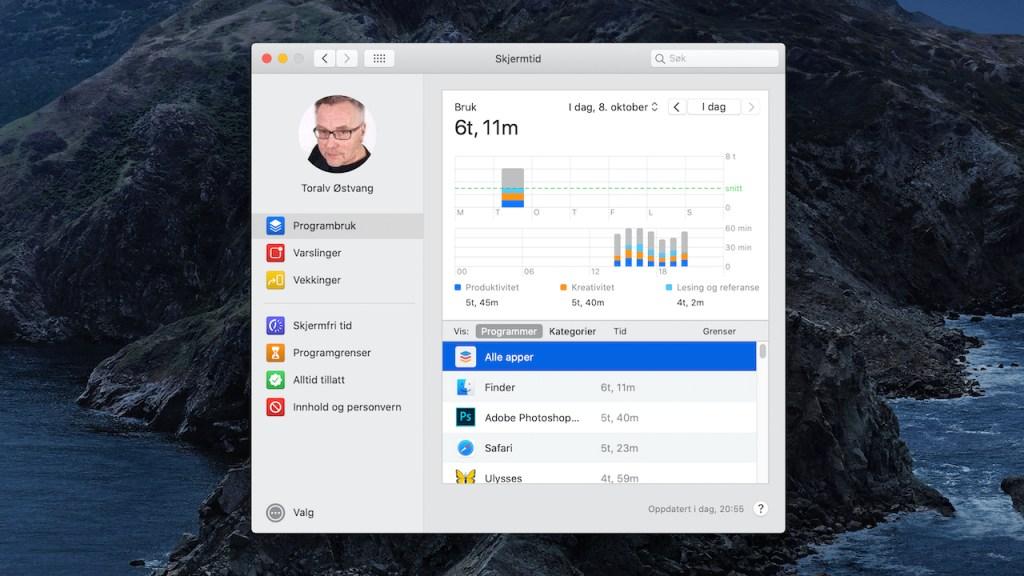 Skjermtid på Mac