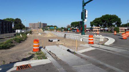Construction of SWLRT line