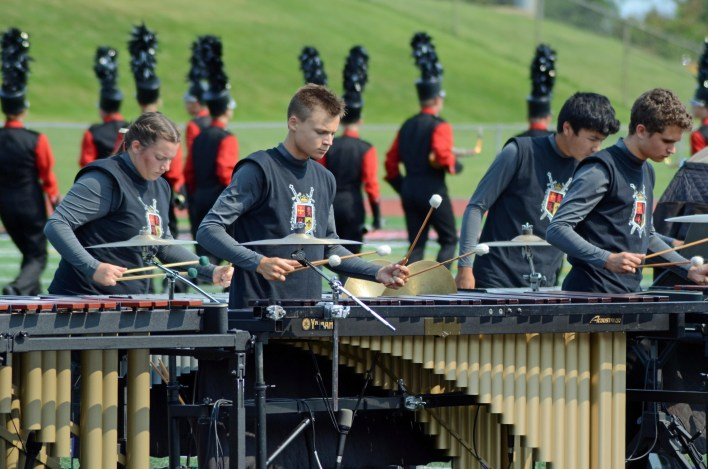 Brandon Valley, SD marching band xylophone players