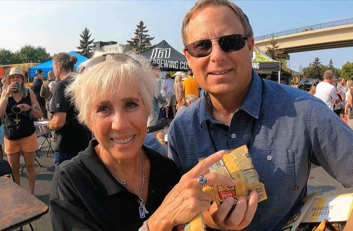 Two people at the Prairie Brewfest 9-11-21