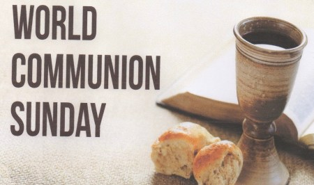 An illustration showing the bread and wine for World Communion Day