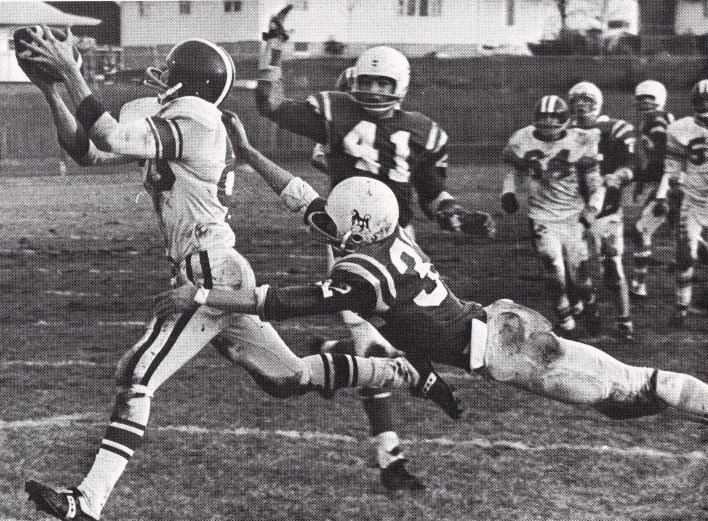 Westerhouse to LaGrand touchdown pass in 1970.
