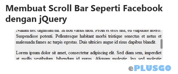 Membuat Scroll Bar Seperti Facebook dengan jQuery