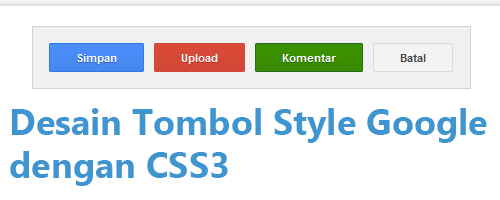 Desain Tombol Style Google dengan CSS3