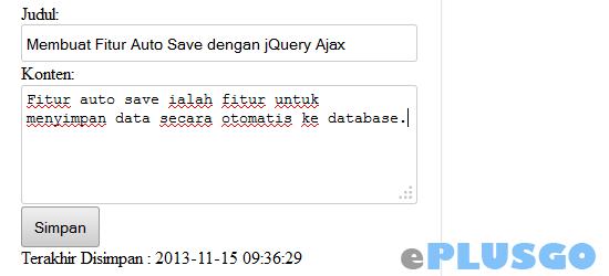 Membuat Fitur Auto Save dengan jQuery Ajax