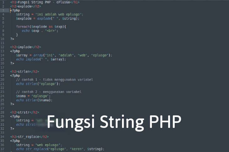 Fungsi String PHP