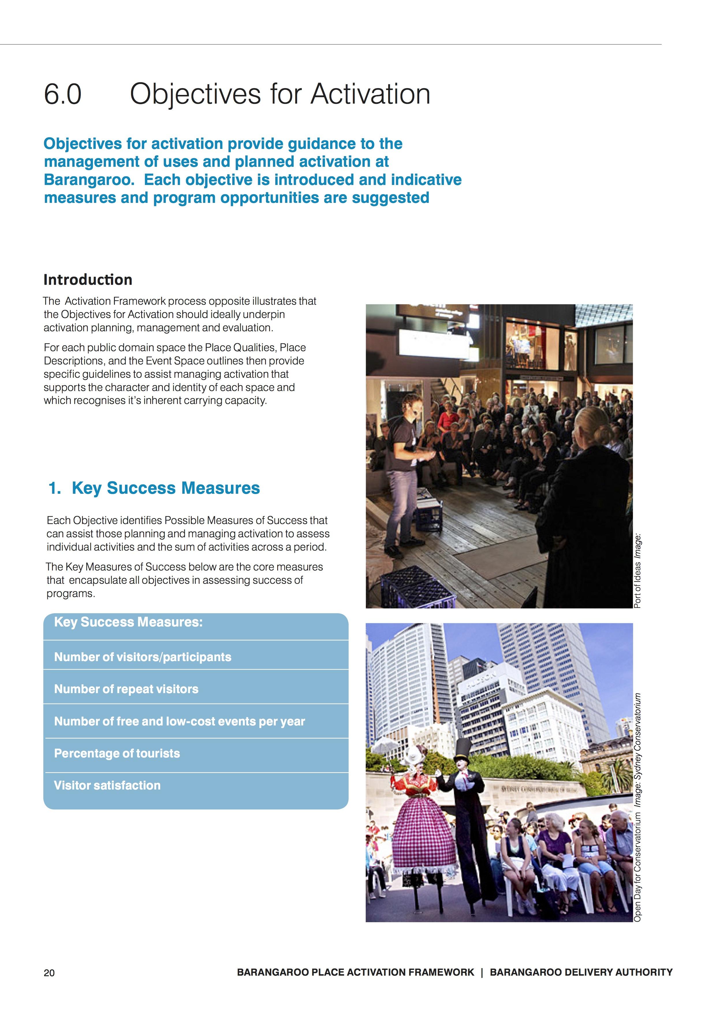 Barangaroo Place Activation Framework